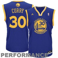 adidas Stephen Curry Golden State Warriors Revolution 30 Replica Performance Jersey - Royal Blue