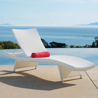 Set of Two Balencia White Chaise Lounges