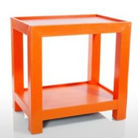 One Kings Lane - Furniture & Rugs - Side Table, Paprika