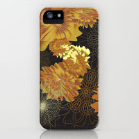 Florabundas Gold iPhone & iPod Case by Nina May