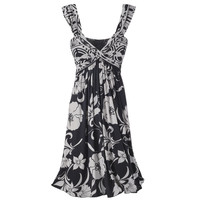 Floral Print Wrap Dress                            - New Age, Spiritual Gifts, Yoga, Wicca, Gothic, Reiki, Celtic, Crystal, Tarot at Pyramid Collection