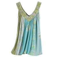 Blue Dawn Batik Top                                - New Age, Spiritual Gifts, Yoga, Wicca, Gothic, Reiki, Celtic, Crystal, Tarot at Pyramid Collection