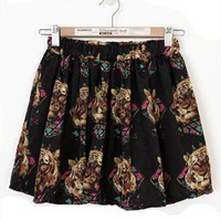 Tiger Print Mini Skirt from LittleByLittle