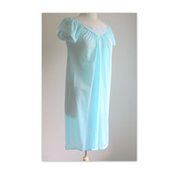 Vintage Pastel Blue Nightgown Size M