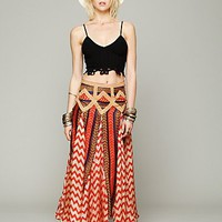 Free People Maracana Silk Skirt