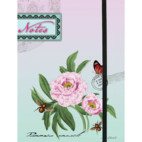 Peony journal made with recycled wood free paper - 
