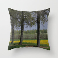 Between the Trees  Throw Pillow by JUSTART