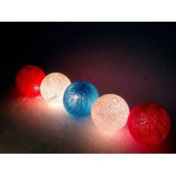 Amazon.com: I Love Handicraft Flag Color Tone Cotton Ball String Lights Patio Wedding and Party Decoration (20 Balls/set): Everything Else