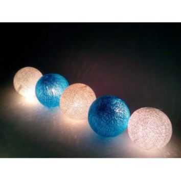 Amazon.com: I Love Handicraft Blue Sky Color Tone Cotton Ball String Lights Patio Wedding and Party Decoration (20 Balls/set): Everything Else