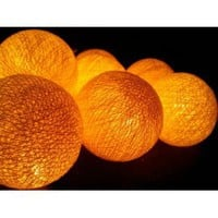Amazon.com: I Love Handicraft Yellow Cotton Ball String Lights Patio Wedding and Party Decoration (20 Balls/set): Everything Else