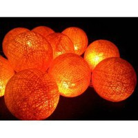 Amazon.com: I Love Handicraft Orange Color Set Cotton Ball String Lights Patio Wedding and Party Decoration (20 Balls/set): Everything Else