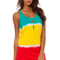 Vans Tank Dress Midtown Racerback in Rasta