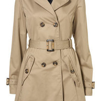 A-line Piped Trench Coat - Jackets & Coats - Apparel - Topshop USA