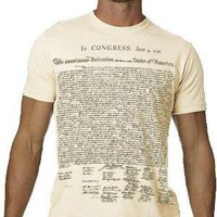 Declaration Independence TShirt History Text Tee by nonfictiontees
