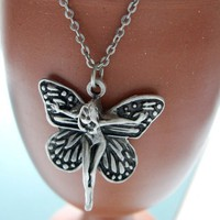 Silver plated chain Fairy Necklace | moonfairy - Jewelry on ArtFire