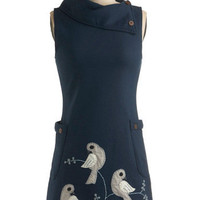 Midnight Bird Song Dress | Mod Retro Vintage Dresses | ModCloth.com