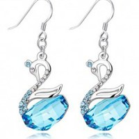 Swan fashion jewelry gift-blue_Earrings_Jewelry_Mili fashion Trade Co.Ltd
