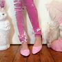 Pink Crushed Velvet Leggings MADE TO ORDER