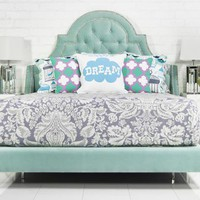 www.roomservicestore.com - Bel Air Bed in Aqua Velvet