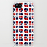 Travel Icons in RWB iPhone & iPod Case by ts55
