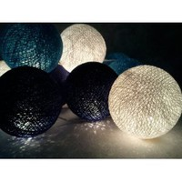 Amazon.com: I Love Handicraft Orange Blue Dark Blue and White Color Set Cotton Ball String Lights Patio Wedding and Party Decoration (20 Balls/set): Everything Else