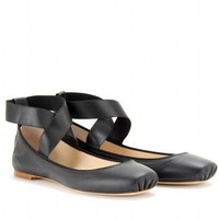 mytheresa.com -  Chlo - SQUARE TOE BALLERINAS - Luxury Fashion for Women / Designer clothing, shoes, bags