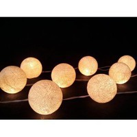 Amazon.com: I Love Handicraft Ivory Cotton Ball String Lights Patio Wedding and Party Decoration (20 Balls/set): Everything Else