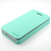 Amazon.com: Apple iPhone 4S 4 Premium Non-Magnetic Wallet Flip Diary Case Cover - MINT BLUE: Cell Phones & Accessories