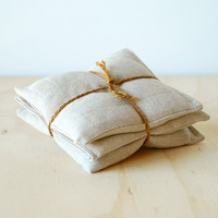 Organic Lavender Sachets Natural Linen Botanical Gift Set