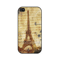Vintage Paris Map iPhone 4 iPhone 4 case iPhone 4S by caseOrama