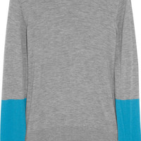 Iris &amp; Ink Color-block cashmere sweater  0% at THE OUTNET.COM