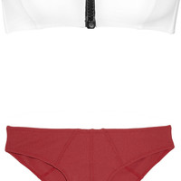 Lisa Marie Fernandez The Lauren bandeau bikini – 64% at THE OUTNET.COM
