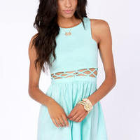 Sew What? Cutout Mint Blue Dress