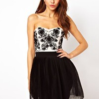 Lipsy VIP Cornelli Bandeau Tutu Dress at asos.com