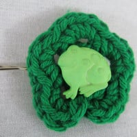 Frog Flower Hair Bobby Pin