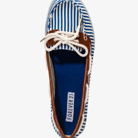 Striped Boat Shoes | FOREVER 21 - 2026556111