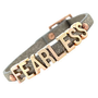 BCBGeneration Bracelet, Rose Gold-Tone Platinum Glitter PVC Fearless Mini Affirmation Bracelet - All Fashion Jewelry - Jewelry &amp; Watches - Macy&#x27;s
