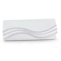 [22.99] Elegant Silk with Beads Handbags / Clutches with Crystal (White Color) - Dressilyme.com