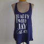 I Party with Jay Gatsby Racer back Tank top