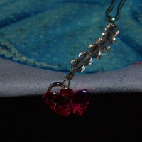 Vintage Rose Swarovski Crystals with Pink Butterfly Charm Zipper Pull