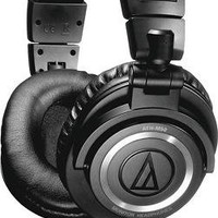 Audio-Technica - Headphone - Black/Silver - ATH-M50s - Best Buy