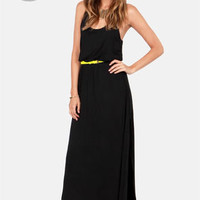 LULUS Exclusive Most Wanted Black Maxi Dress