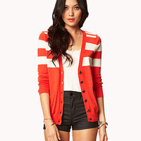 Essential Colorblocked V-Neck Cardigan