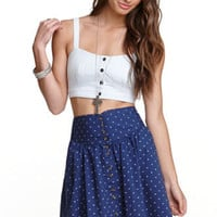Nollie Button Front Bustier Tank at PacSun.com
