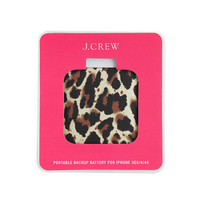 Printed backup battery for iPhone - travel essentials - Women's accessories - J.Crew