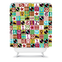 DENY Designs Home Accessories | Sharon Turner Patch Girl Shower Curtain