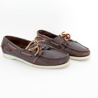 Vintager shoes / Sebago Docksides leather boat loafers / size 38-7.5