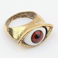 Happyshopping — Fashion Punk Style Realistic Eyes Retro Styling Rings