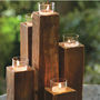 Elm Wood Pylon Candelabra - VivaTerra