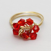 Carnelian Galaxy Ring